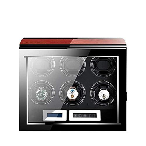 Modischer Trend; hohe Kosten-Performance; Uhrenbeweger Automatische 6 Uhren; hölzerne Batterie; leiser Uhrenbeweger Displaybox Aufbewahrungsbox Schwarz und Braun
