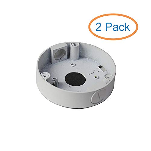 Kenuco Junction Box/Mounting Base Hikvision Turret Camera DS-2CD23x2 (2 Pack, White)