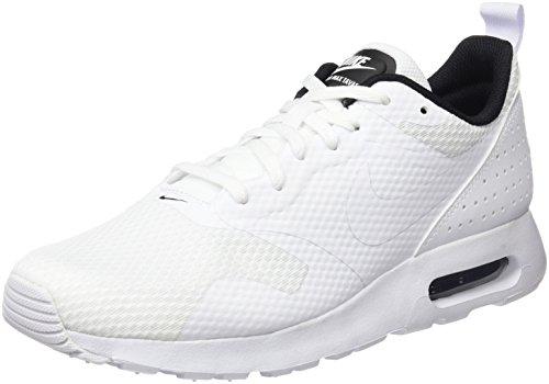 Nike Air Max Tavas, Chaussures de Tennis Homme, Blanc Cassé (White/White/Black), 38.5 EU