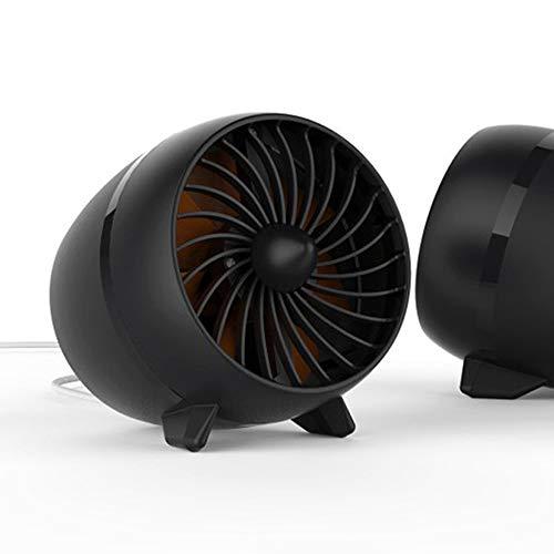 NCBH Draagbare ventilator voor op het bureau, stille, USB-interface, draagbare miniventilator voor thuis, op kantoor, camping, outdoor, reizen