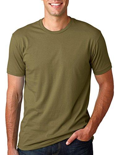 Next Level Premium Fit Extreme Soft Rib Knit Jersey T-Shirt, Military Green, L