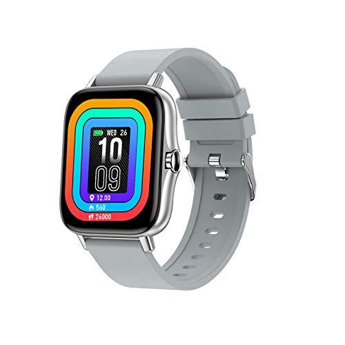 TWW Smart Watch für Männer Frauen Version IP68 Wasserdicht, Monitor Sport Digitaluhr, Smartwatch für Handys,Grau