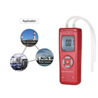 Professional Hand-held LCD Digital Dual-port Manometer Differential Air Pressure Gauges Tester with 11 Units of Measurement
