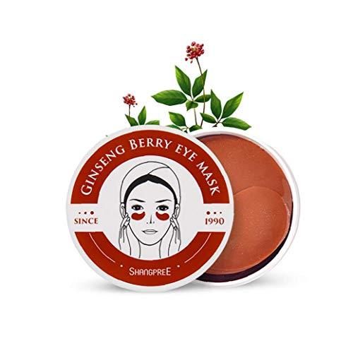 60sheet Ginseng Berry Bajo el Ojo Parches de Ojo del colágeno Anti-envejecimiento Anti Arrugas Ojo del Gel de círculos Oscuros bajo Bolsas de los Ojos Tratamiento
