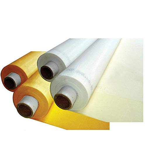 TECHTONGDA 3 Yards 200 Mesh Yellow Color Count Silk Screen Printing Mesh Fabric Polyester Material