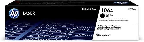 HP 106A W1106A Cartuccia Toner Originale da 1000 Pagine, Compatibile con Stampanti LaserJet Serie 100 e Laserjet Serie...