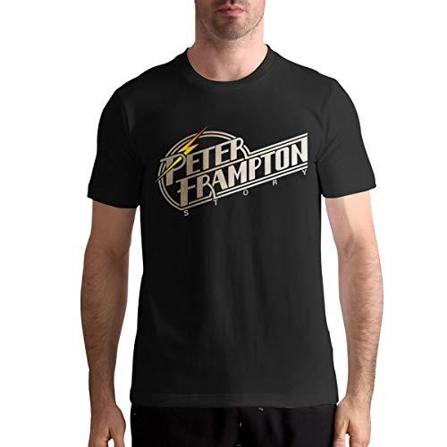 AlvaLynd Mens Tshirts Mans Peter Frampton T-Shirt Black