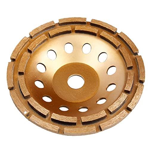 Copa de hormigón Muela abrasiva doble fila 230mm Diamond Consumibles piedra amoladora de pulido eléctricos de disco de hardware