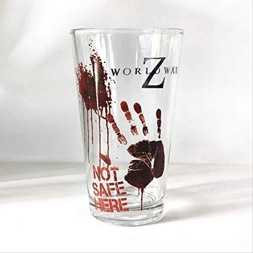 Game World War Z Zombie World War Blood Print Memorial Transparent Glass Water Cup