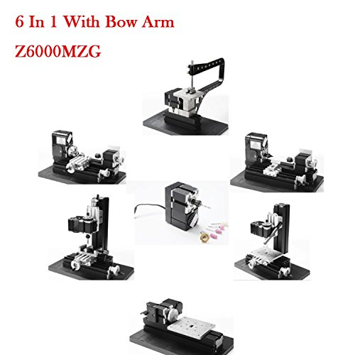 Buy Bargain Power Lathes Metal Lathe Tools Motorized Mini Metal Working Lathe Machine DIY Tool Metal...