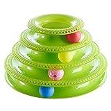 FYDYB Interaktives Spielzeug für Katzen, Ballscheibe, Spielzeug, dreistöckig, geistiger Spielturm,...