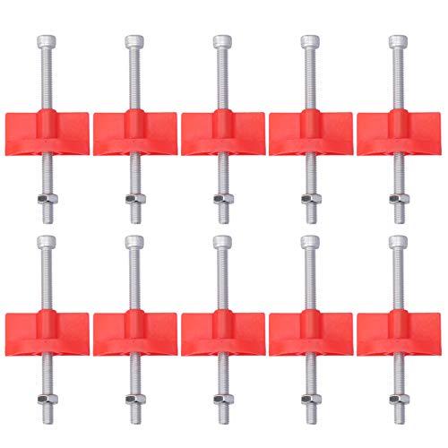 Ajustador de altura de baldosas, HDPP + rápido y eficiente Separadores de baldosas de acero inoxidable Clips de nivelación de alta resistencia para paredes elevadas Ladrillo para la línea