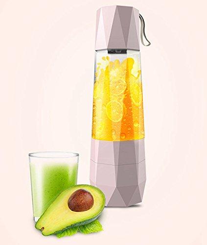 LONG FAR USB draagbare vacuümmixer, Ice Crusher Mixer, blend fruit, groenten, baby foods - voor thuis, reizen, outdoor-sport, 400 ml, 30 seconden automatische vacuümpomp.
