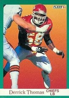 Derrick Thomas Football Card (Kansas City Chiefs) 1991 Fleer #100