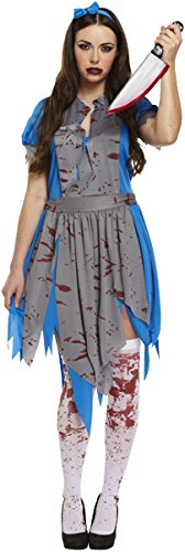Nouvelle horreur ADULTE HALLOWEEN comme Alice en tenue WONDERLAND COSTUME FANCYDRESS