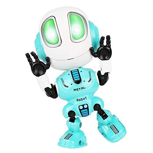 Etmury Kinder Aufnahme Sprechender Roboter,Elektronisches Spielzeug mit LED Augen & Touch-Steuerung Robot Toys,Pädagogisches Lernspielzeug Geschenk für Jungen Mädchen 3-12 Jahre (Blau)