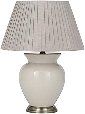 Pacific Lifestyle Table Lamp Complete, Cream