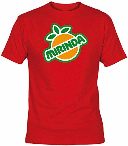Desconocido Camiseta Mirinda Adulto/niño EGB ochenteras 80´s Retro (5XL, Rojo)