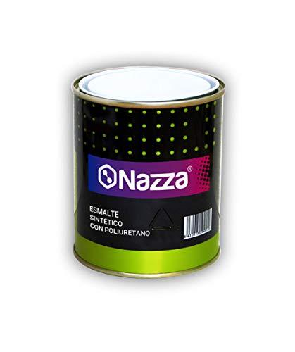 Esmalte Sintético Nazza con Poliuretano - Uso interior y exterior - Rápido secado - COLOR NEGRO BRILLANTE - 375 ml.