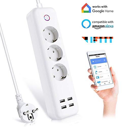 Ciabatta WiFi Intelligente Multipresa a 3 AC+ 4 USB Controllo Remoto...