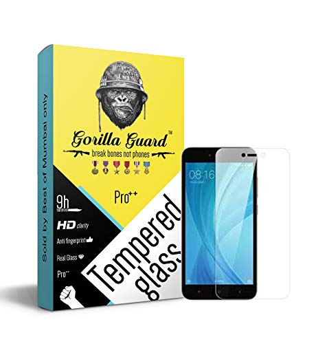 Gorilla Guard Hardness Oleophobic UV Protect 2.5D Round Edges Neo Coated Tempered Glass Screen Protector for Xiaomi Redmi MI 5A with Installation Kit