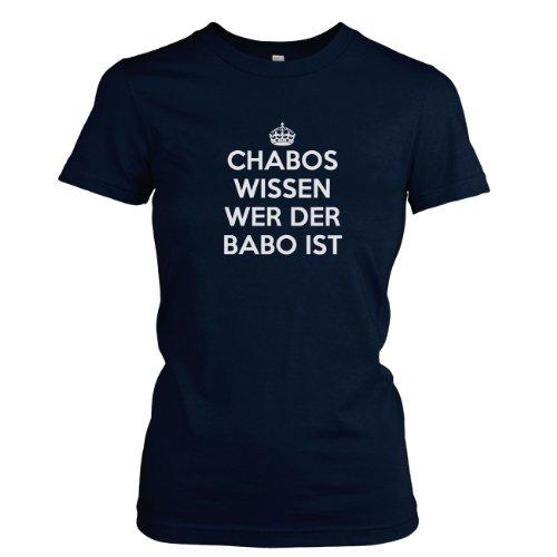 Texlab - Chabos wissen wer der BABO ist - Damen T-Shirt, Größe M, dunkelblau