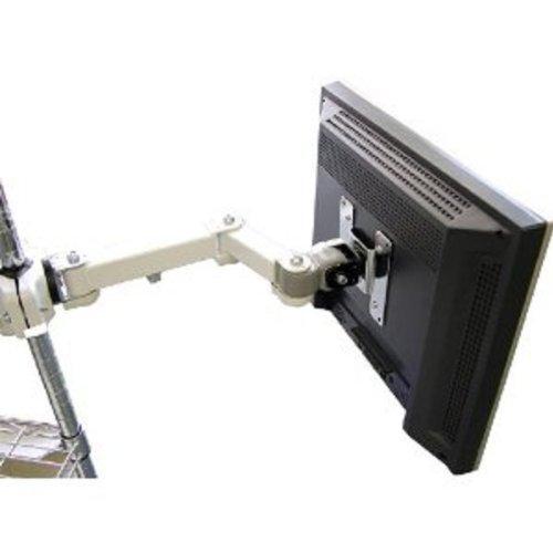 サンコー 4軸式クリップモニターアーム ホワイト クリップ式 耐荷重6kgまで25〜40mmポール対応 MARMGUS128W
