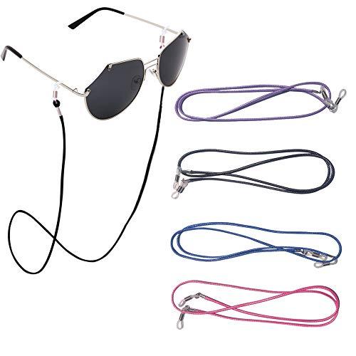 4 correas de piel sintética para gafas, correas de sujeción para gafas, cordones para collares