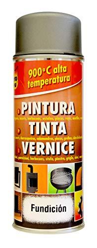 Pyro Feu 24951-6 Spray Pintura térmica Fundición 900°C-Aerosol, Gris, 400 ml