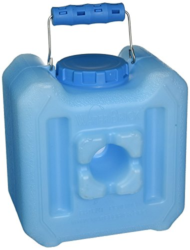 Water Brick 1833-0005 Stackable Water Container, 1.6 gal of Liquids/Up to 13-Pounds of Dry Foods, Blue