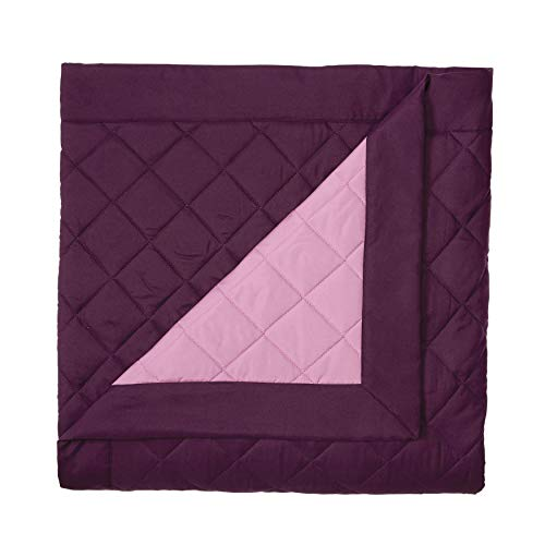 BrylaneHome Reversible Quilted Bedspread - Twin, Plum Dusty Lavender
