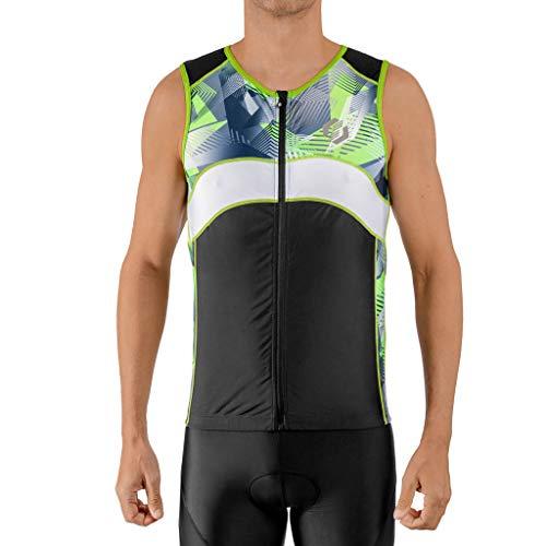 SLS3 Mens Triathlon Top - Triathlon Shirt Mens - Tri Jerseys - Tri Top Men - Men's Tri Top - Sleeveless Bike Jersey