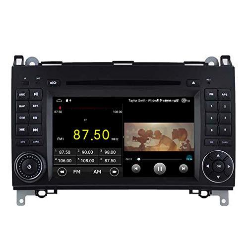 Autosion Android 10 Lecteur DVD GPS Stéréo HeadUnit Navi Radio Multimédia WiFi pour Ben W169/W245/Viano/Vito 2005 2006 2007 2008 2009 2010 2011 Commande au Volant
