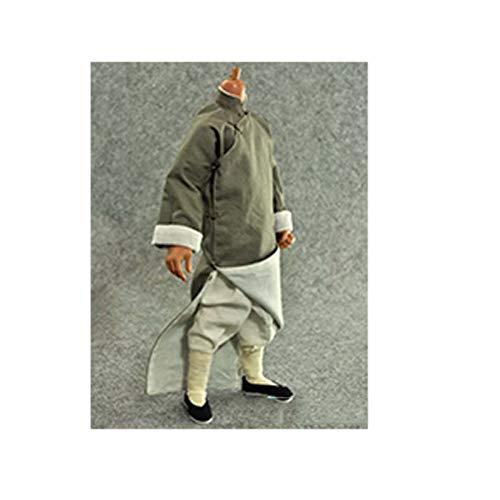 1/6 Soldado Kung Fu Ropa Bata Larga Wing Chun Conjunto De Ropa Accesorios para Muñecas Corporales