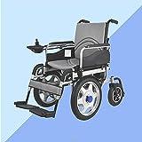 sZeao Silla DE Ruedas ELÉCTRICA Power Chair - Silla De Ruedas Plegable, Climbing Ability 30°, Peso Máximo Soportado 120 Kg