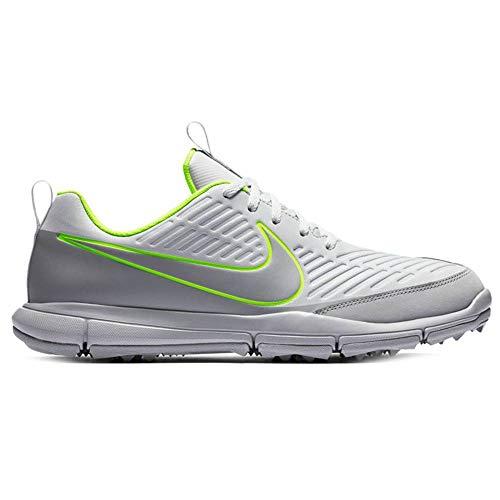Nike New Mens Explorer 2 Golf Shoes Platinum/Grey/Volt Sz 8 M - Ret $75
