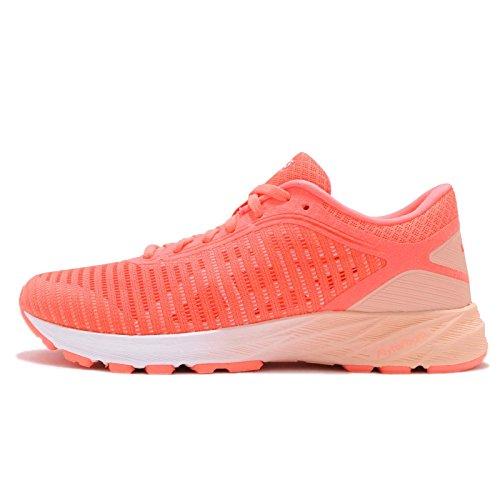 Asics Dynaflyte 2, Zapatillas de Running Mujer, Rosa (Flash Coral/White/Apricot Ice 0601), 38 EU