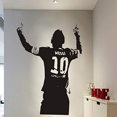 UEFA Fußball Fußball Sport FC Barcelona Lionel Messi Feiern Ziel Wandaufkleber Vinyl Aufkleber Autoaufkleber Junge Fans Schlafzimmer Club Home Decor Wandbild