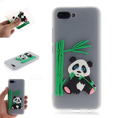 JCKHM Hülle kompatibel mit Huawei Honor 10 Hülle Silikon,Panda isst Bambus-TPU-Schale Hülle Silikon Liquid Silikon Ultra dünn Komplettschutz,Anti-fall Etui Weich stoßfest,Durchscheinend,EINWEG packet