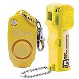 Mace Brand Pocket Pepper Spray and Alarm Combo- Neon Yellow