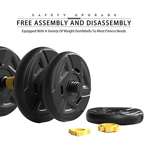 2020 NEW 2-in-1 Dumbbells Barbell Sets, Weights 22-66lbs, for Roman Weight Bench Weightlifting, Home Gym Fitness Equipment, Strength Training, for Beginners Professionals (22)