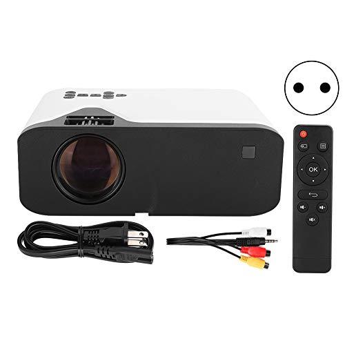 Agatige Proyector de Video LCD, 1280x720p Proyector Full HD Mini Proyector de Películas para TV Stick PC Laptop PS4 DVD(Enchufe de la UE)