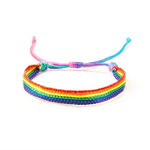 Rainbow LGBT - Pulsera trenzada hecha a mano para hombres y mujeres LGBTQ (3)