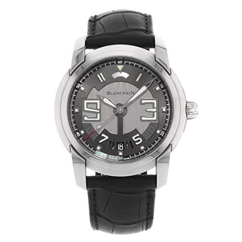 Blancpain l-evolution 8giorni acciaio nero automatico mens orologio...
