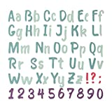 Sizzix 664491 THINLITS Alpha Cutting Dies, Papier, Bold