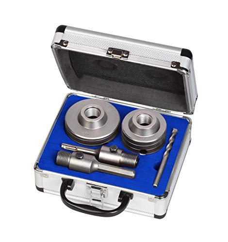 MK Handel - SDS-Bohrkronen - Bohrkronensatz mit SDS und Sechskantschaft 66 und 80 mm, inkl. Zentrierbohrer und hochwertiger Transportbox