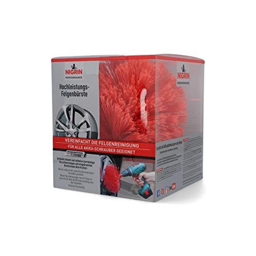 Nigrin 72974 Performance Hochleistungs-Felgenbürste, Twister Reinigungsbürste für Autofelgen, mit 2.000 Hochleistungs-Reinigungsborsten
