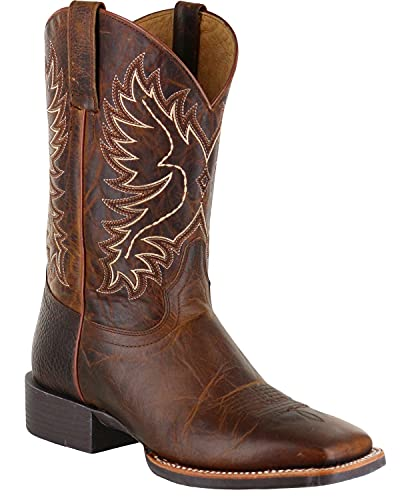 Cody James Men's Xero Gravity Embroidered Performance Boot Square Toe Brown 10.5 D(M) US