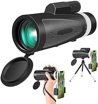 12x50 BAK4 Prism Dual Focus HD Monocular with Phone Holder & Tripod
