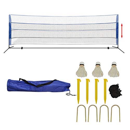 UBaymax Tragbares Badmintonnetz-Set mit Tragetasche und Federbälle, Innen- oder Außenplätze Strand Badminton-Netz für Badminton, Volleyball und Tennis (500 x 155 cm)